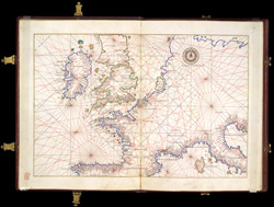 Portolan Chart of Western Europe Showing the British Isles(001ADD000018154U00007000)
